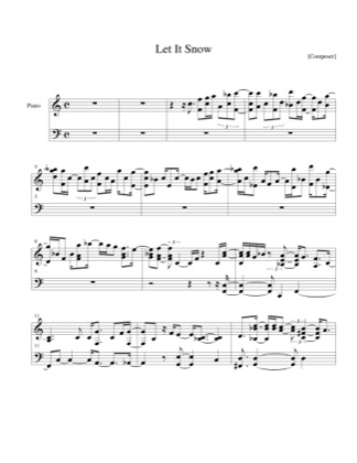 Thumbnail of first page of Let It Snow piano sheet music PDF by Christmas.