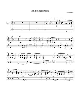Thumbnail of first page of Jingle Bell Rock piano sheet music PDF by Christmas.