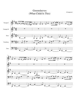 Thumbnail of first page of Greensleves (What Child is This) piano sheet music PDF by Christmas.