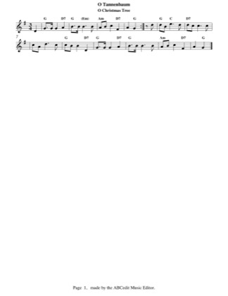 Thumbnail of first page of O Christmas Tree (easy) piano sheet music PDF by Christmas.