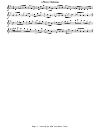 Thumbnail of first page of A Merry Christmas (easy) piano sheet music PDF by Christmas.