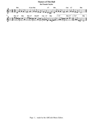 Thumbnail of first page of Masters of this Hall piano sheet music PDF by Christmas.