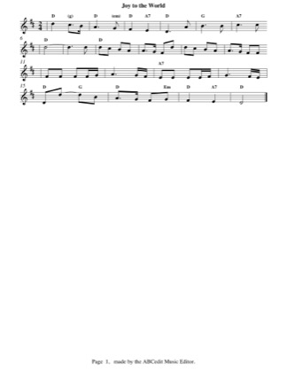 Thumbnail of first page of Joy To The World piano sheet music PDF by Christmas.