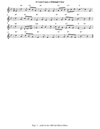 Thumbnail of first page of It Came Upon A Midnight Clear (easy) piano sheet music PDF by Christmas.