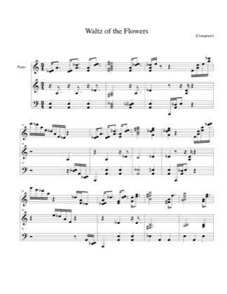Thumbnail of first page of Waltz of the Flowers piano sheet music PDF by Christmas.