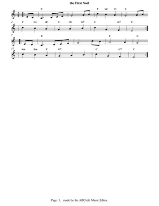 Thumbnail of first page of The First Noel (easy) piano sheet music PDF by Christmas.