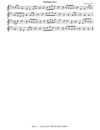 Preview of First Page of Christmas Eve (easy) sheet music by Christmas
