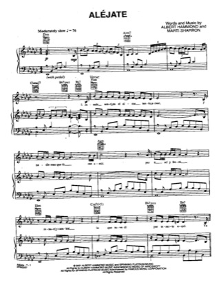 Thumbnail of first page of Alejate piano sheet music PDF by Josh Groban.