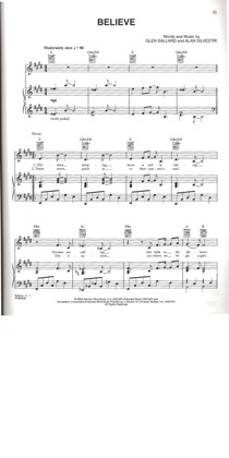 Thumbnail of first page of Believe piano sheet music PDF by Josh Groban.
