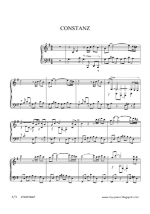 Thumbnail of first page of Constanz piano sheet music PDF by Anonymous.