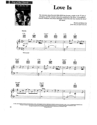 Thumbnail of first page of Love Is piano sheet music PDF by Brian McKnight & Vanessa Williams.